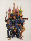 Illustration:Advertising, MORGAN WEISTLING (American 20th Century) . Police Academy 7:Mission to Moscow, original one-sheet movie poster illustra...(Total: 1 Item)