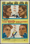 """Movie Posters:Western, The Big Country (United Artists, 1958). One Sheet (27"""" X 41"""") Style A. Western...."""