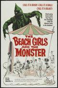 """Movie Posters:Horror, The Beach Girls and the Monster (U.S. Films Inc., 1965). One Sheet (27"""" X 41""""). Horror...."""