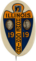 Football Collectibles:Others, 1919 University of Illinois Homecoming Pinback Button....