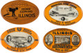 Football Collectibles:Others, 1920-23 University of Illinois Homecoming Pinback Buttons Lot of 3....