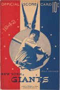 Baseball Collectibles:Programs, 1942 Major League Baseball All-Star Game Program with Rare Insert....