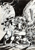 Original Comic Art:Covers, Dave Cockrum X-Men #102 Cover Original Art (Marvel, 1976)....