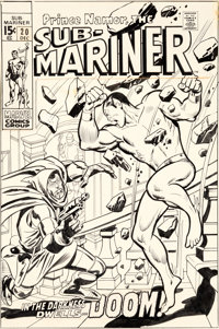 John Buscema and Johnny Craig Sub-Mariner #20 Cover Doctor Doom Original Art (Marvel, 1969)