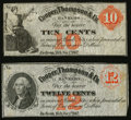 Obsoletes By State:Michigan, Jackson, MI- Unknown Issuer at Cooper, Thompson & Co. 10¢; 12¢ Dec. 1, 1862. ... (Total: 2 notes)