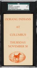 Football Collectibles:Others, 1922 Oorang Indians Postcard, SGC Authentic....
