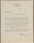 Football Collectibles:Others, 1931 Frankford Yellow Jackets Letters Written During The Team's Final NFL Season....