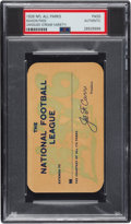 Football Collectibles:Tickets, 1926 National Football League Season Pass (Cream) from The Joe Carr Find, PSA Authentic. ...