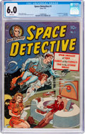 Golden Age (1938-1955):Science Fiction, Space Detective #1 (Avon, 1951) CGC FN 6.0 White pages....