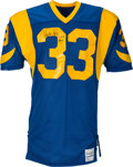 Football Collectibles:Uniforms, 1986-87 Charles White Signed Game Worn Los Angeles Rams Jersey - Loaded With Repairs From Rushing Title Season! . ...