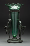 Other, An A.C.R. Emberger Art Deco Double Nude Centerpiece Vase, circa 1930. Marks: A.C.R. EMBERGER CO, CHICAGO, (copyright) ...