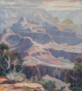 Fine Art - Painting, American, Carl Hoerman (American, 1885-1955). The Grand Canyon. Oil oncanvas. 30-3/4 x 28 inches (78.1 x 71.1 cm). Signed lower r...