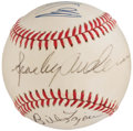Autographs:Baseballs, Michigan Legends Multi-Signed Baseball - Anderson, LaJoie, &Schembechler.. ...