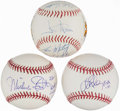 Autographs:Baseballs, Olympics Signed Baseball Lot of 3 with '88 Team, May, & Smith.....