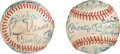 Autographs:Baseballs, 1980's Home Run Hitters Multi-Signed Baseball with Maris & Mantle.. ...