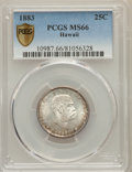 Coins of Hawaii , 1883 25C Hawaii Quarter MS66 PCGS Secure. PCGS Population: (124/20 and 6/3+). NGC Census: (118/6 and 0/0+). Mintage 242,60...