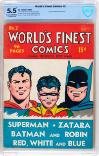 World's Finest Comics #2 (DC, 1941) CBCS FN- 5.5 Cream to off-white pages