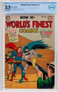 Golden Age (1938-1955):Superhero, World's Finest Comics #71 (DC, 1954) CBCS GD+ 2.5 Cream to off-white pages....
