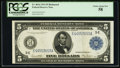 Large Size:Federal Reserve Notes, Fr. 863a $5 1914 Federal Reserve Note PCGS Choice About New 58.. ...