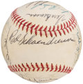 Autographs:Baseballs, 1971 St. Louis Cardinals Team Signed Baseball (24 Signatures).. ...
