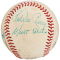 Autographs:Baseballs, Hall of Fame Multi-Signed Baseball with Alston, Anderson, & Reese.. ...