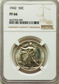 Five-Piece 1942 Proof Set PR64 to PR67 NGC. The coins are individually housed in holders bearing consecutive certificati...