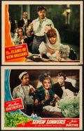 """Movie Posters:Adventure, Seven Sinners & Other Lot (Universal, 1940/R-1953). Lobby Cards (2) (11"""" X 14"""") & Photo (8"""" X 10""""). Adventure.. ... (Total: 3 Items)"""