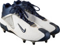 Football Collectibles:Others, 2004 Kurt Warner Game Worn New York Giants Cleats....