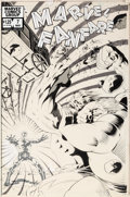 Original Comic Art:Covers, Joe Barney and George Freeman Marvel Fanfare #7 Cover Hulk Original Art Group of 2 (Marvel, 1983)....