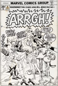 Original Comic Art:Covers, Ross Andru and Mike Esposito Arrgh! #6 Unpublished Cover Original Art and Color Guide (Marvel, 1975).... (Total: 2 Items)