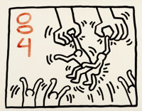 Keith Haring (1958-1990) Untitled, 1984 Sumi ink on paper 23 x 29 inches (58.4 x 73.7 cm) (sheet)
