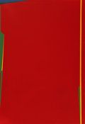 Post-War & Contemporary, Saliba Douaihy (1915-1994). Abstraction en rouge, 1983. Oilon canvas. 51 x 35 inches (129.5 x 88.9 cm). Signed and date...