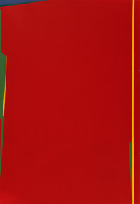 Saliba Douaihy (1915-1994) Abstraction en rouge, 1983 Oil on canvas 51 x 35 inches (129.5 x 88.9