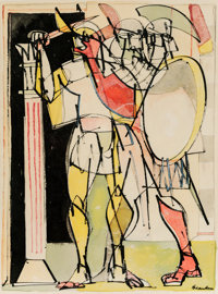 Romare Howard Bearden (1911-1988) Untitled, circa 1947-48 Ink and watercolor on paper 24-1/2 x 18