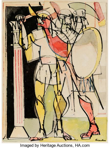 Romare Howard Bearden (1911-1988) Untitled, circa 1947-48 Ink and watercolor on paper 24-1/2 x 18-3/8 inches (62.2 x ...