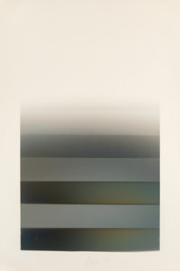 Larry Bell (b. 1939) MS 29, 1978 Vaporized metal on Arches paper 71 x 46-1/2 inches (180.3 x 118
