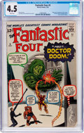 Silver Age (1956-1969):Superhero, Fantastic Four #5 (Marvel, 1962) CGC VG+ 4.5 White pages....