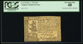 Colonial Notes, Virginia October 7, 1776 $10 PCGS Extremely Fine 40.. ...