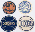 Baseball Collectibles:Pins, c. 1950s Brooklyn Dodgers Patch Lot of 4.. ...