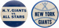 Baseball Collectibles:Pins, c. 1950s New York Giants Pin Lot of 2.. ...