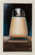 Post-War & Contemporary:Contemporary, Ralph Goings (b. 1928). Sugar Dispenser, Front View, 1989.Watercolor and gouache on paper. 5 x 3 inches (12.7 x 7.6 cm)...
