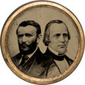 Political:Ferrotypes / Photo Badges (pre-1896), Grant & Wilson: Exceptional Large Ferrotype Jugate....