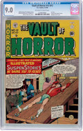 Golden Age (1938-1955):Horror, Vault of Horror #12 (#1) (EC, 1950) CGC VF/NM 9.0 Off-white towhite pages....