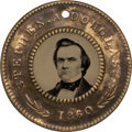 Political:Ferrotypes / Photo Badges (pre-1896), Stephen A. Douglas: Choice Back-to-Back Ferrotype....
