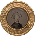 Political:Ferrotypes / Photo Badges (pre-1896), Horatio Seymour: Minty Back-to-Back Ferrotype....