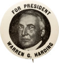 Political:Pinback Buttons (1896-present), Warren G. Harding: Crisp and Clean Picture Pin....