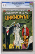 Golden Age (1938-1955):Horror, Adventures Into The Unknown #27 Mile High pedigree (ACG, 1952) CGC NM 9.4 Off-white to white pages....