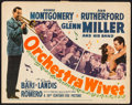 "Movie Posters:Musical, Orchestra Wives (20th Century Fox, 1942). Title Lobby Card (11"" X 14""). Musical.. ..."