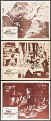 """Great Expectations (Continental, R-1950s). Lobby Cards (3) (11"""" X 14""""). Drama. ... (Total: 3 Items)"""