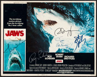 "Jaws (Universal, 1975). Autographed Lobby Card (11"" X 14"") with Certificate of Authenticity (8.5"" X 11&qu..."